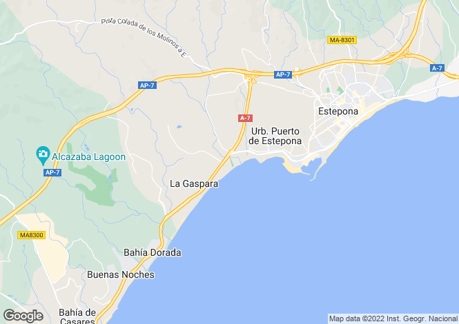 Map for Estepona, Málaga, Andalusia