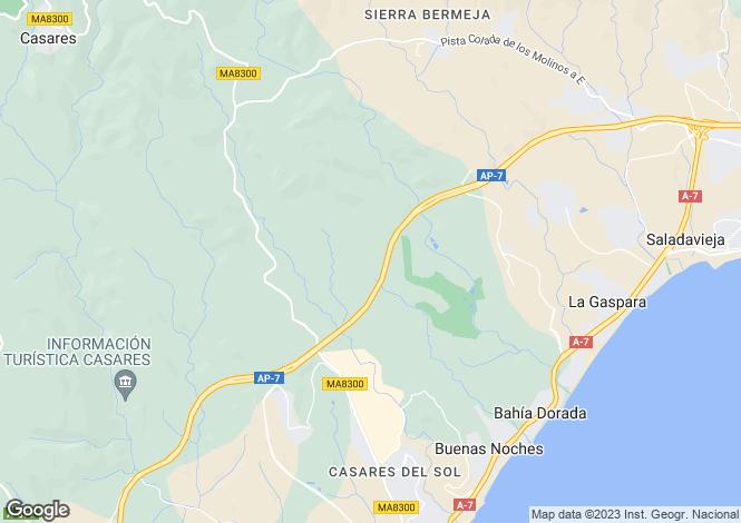 Map for Andalucia, Malaga, Casares