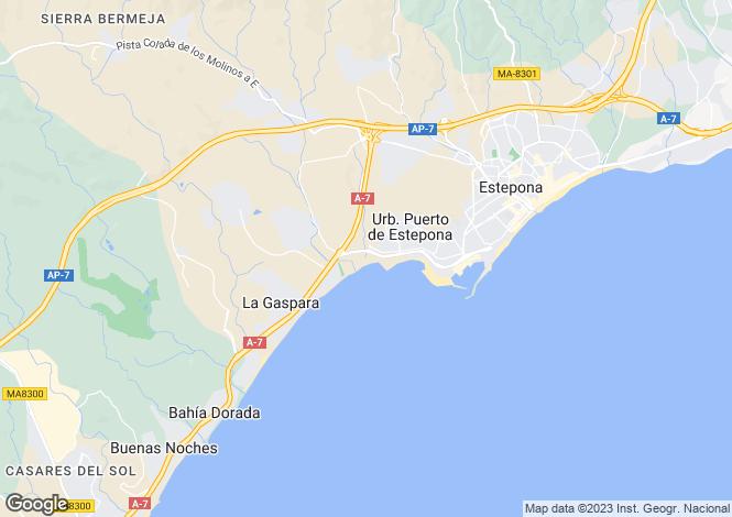 Map for Riviera Andaluza, Estepona, Malaga, Spain