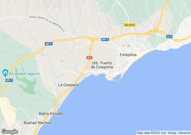 Map for Seghers, Estepona, Malaga, Spain