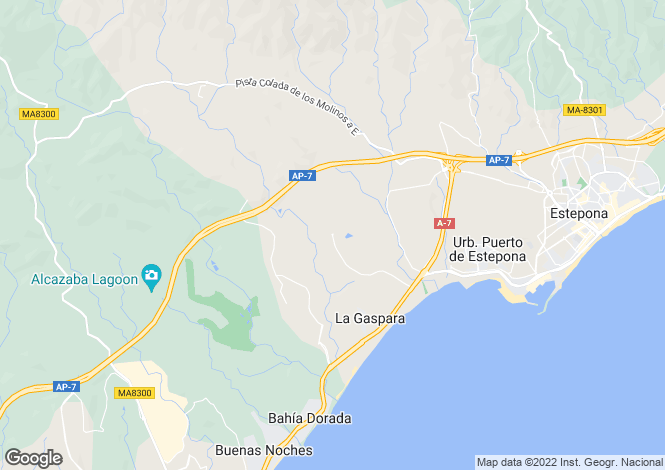Map for Estepona, Spain