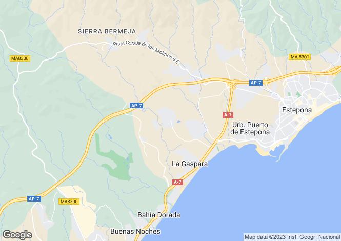 Map for Andalusia, Malaga, Estepona