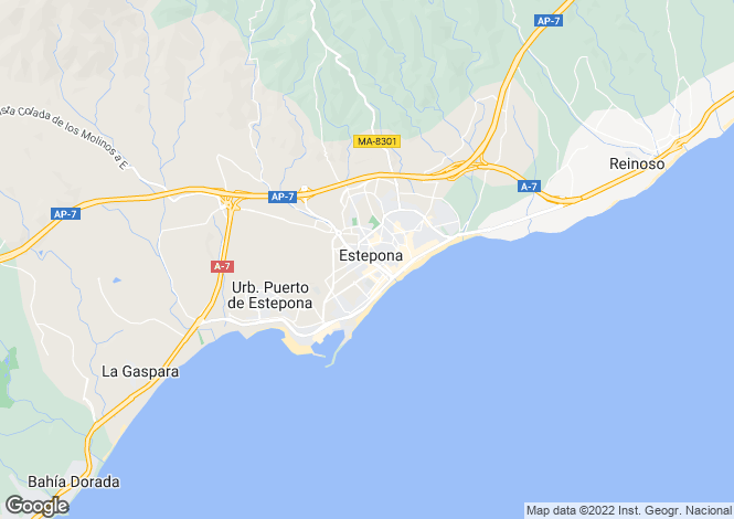 Map for Estepona, Málaga, Andalusia