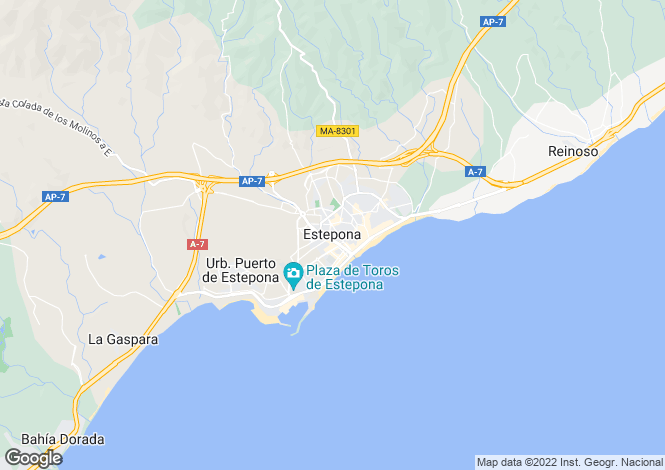 Map for Brand New Luxury Apartments, Atalaya, Estepona