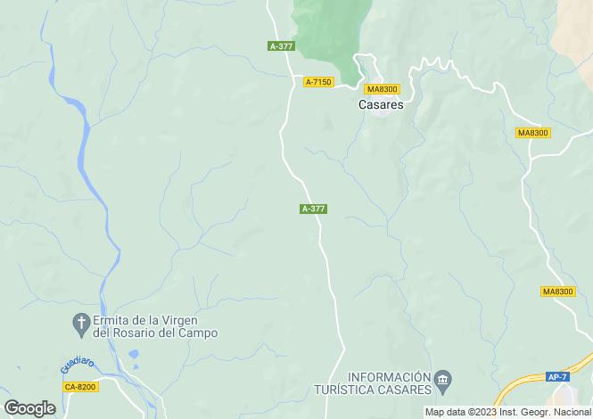 Map for Casares del Sol, Casares, Malaga, Spain