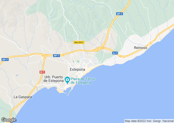 Map for Alcazaba Beach, Marbella West (Estepona)
