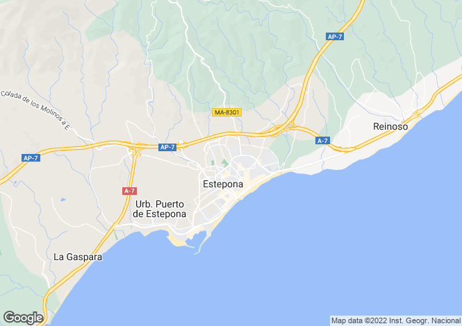 Map for Estepona, Andalucia, Spain
