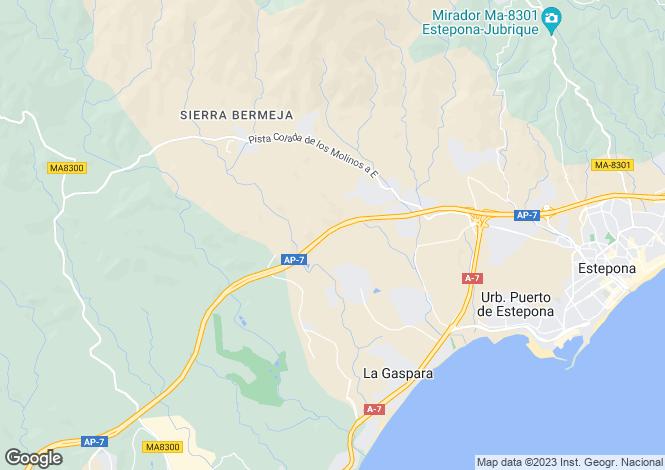 Map for Andalucia, Malaga, Bahia De Casares