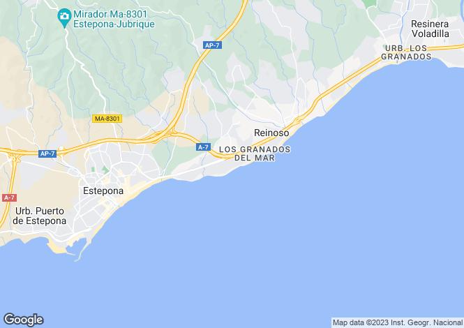 Map for Alcazaba Beach, Estepona, Malaga, Spain