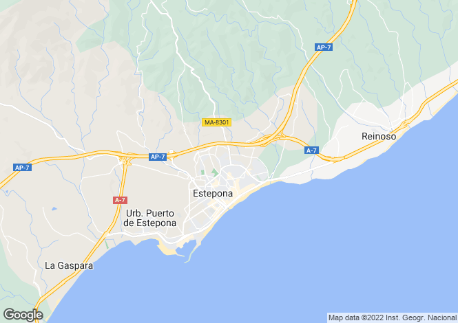 Map for Rustic Style Villa, Puerta Los Reales, Estepona