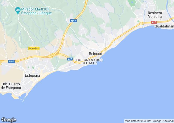 Map for Los Granados del Mar, Estepona, Malaga, Spain