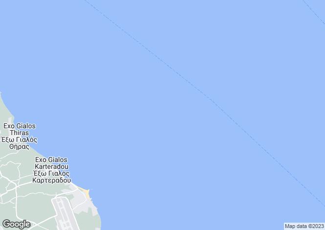 Map for Cyclades islands, Santorini, Fyra