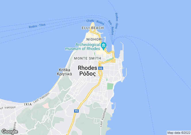 Map for Dodekanes Inseln, Rhodes, Rhodes Old Town