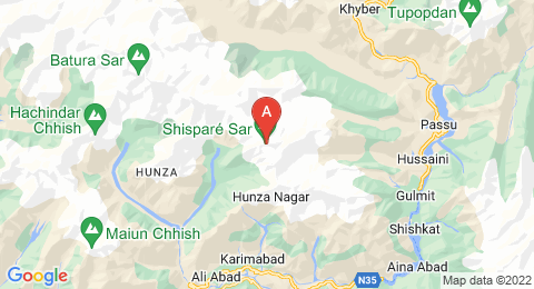 map of Shispare (Pakistan)