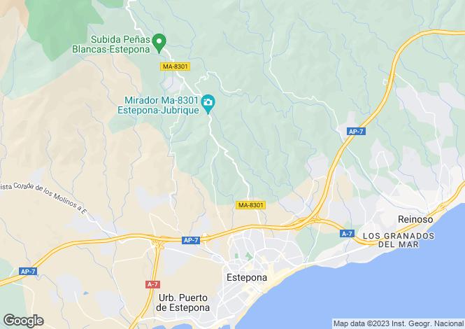 Map for Estepona, Costa Del Sol, Spain