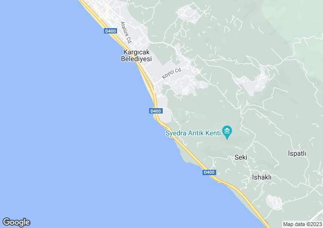Map for Kargicak, Alanya, Antalya