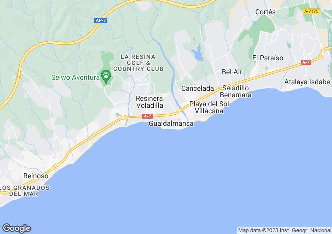 Map for Andalucia, Malaga, Cancelada