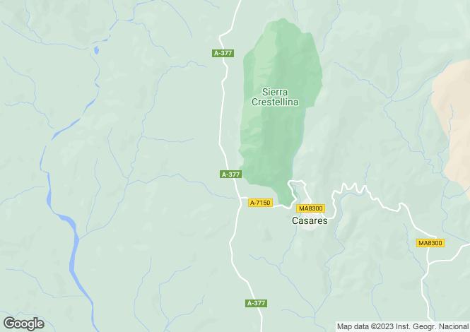 Map for Casares Montaña, Casares, Malaga, Spain