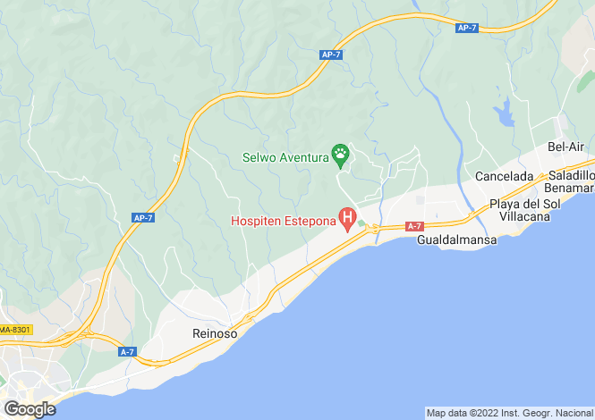 Map for Benahavís, Málaga, Andalusia