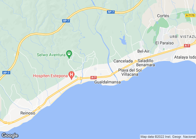 Map for Andalusia, Malaga, Estepona
