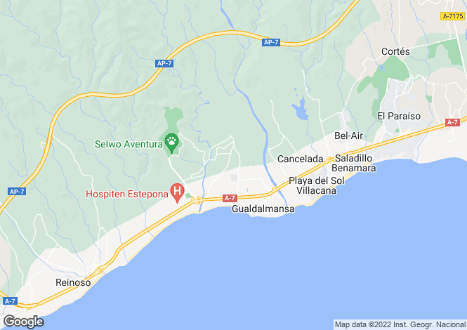 Map for Estepona, Estepona, Malaga, Spain