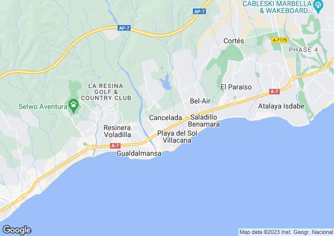 Map for Cancelada, Estepona, Malaga, Spain