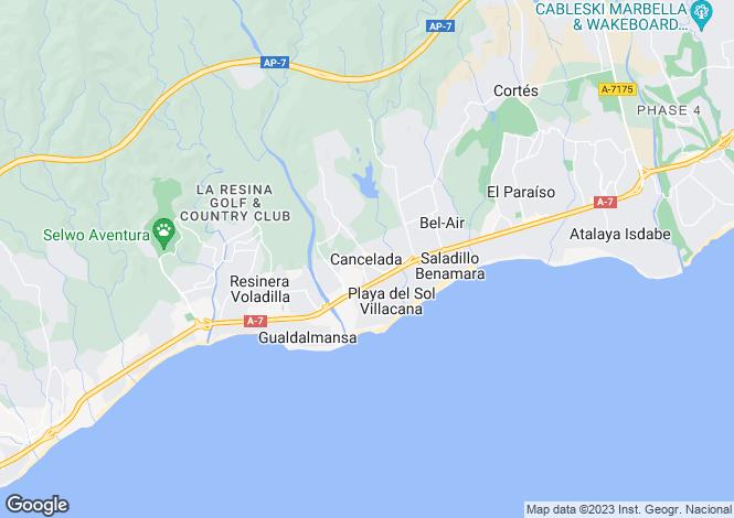 Map for Cancelada, Málaga, Andalusia