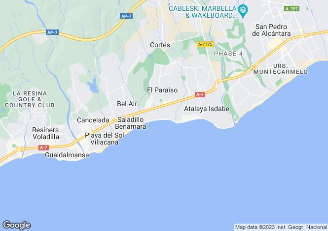 Map for Benamara, Estepona, Malaga, Spain