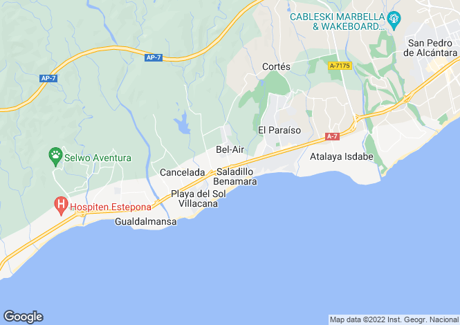 Map for Brand New Luxury Residences, New Golden Mile, Estepona
