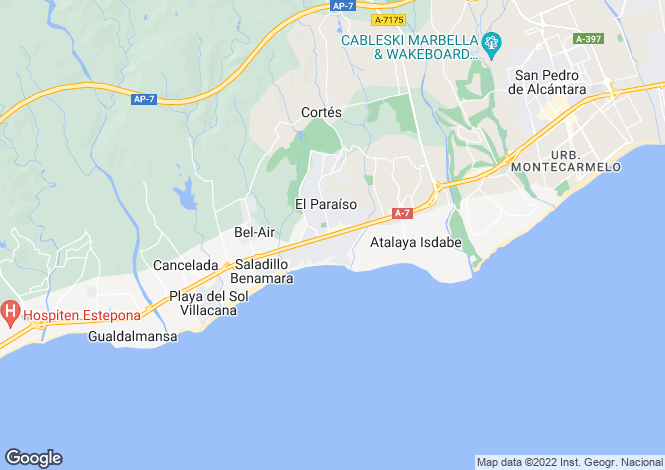 Map for El Paraiso Barronal, Estepona, Malaga, Spain