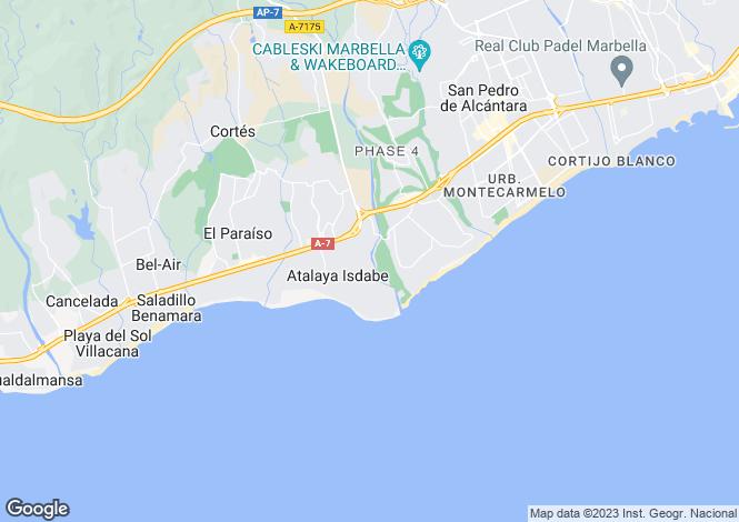 Map for Andalucia, Malaga, Guadalmina