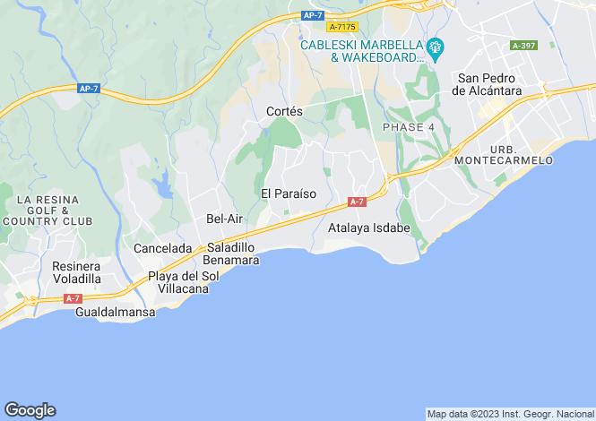 Map for Andalusia, M�laga, Marbella