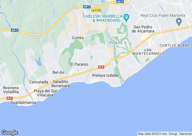 Map for Spain - Andalusia, Malaga, Benahavis