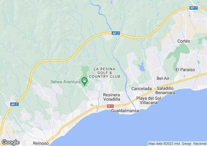 Map for Estepona, Malaga, Spain