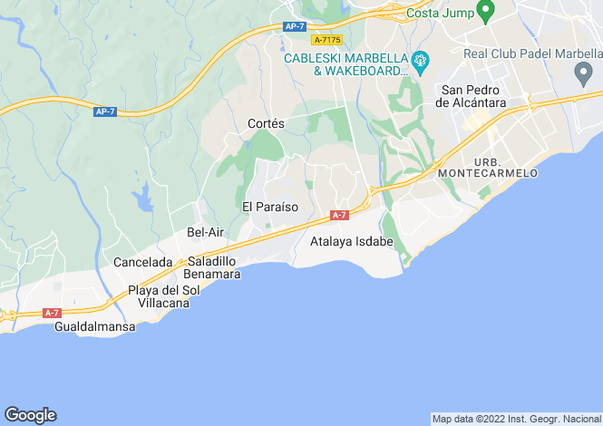 Map for Andalucia, Malaga, Estepona