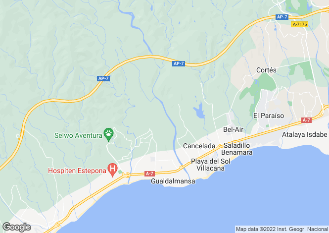Map for Spain - Andalusia, Malaga, Estepona