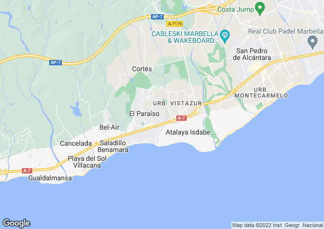 Map for New Golden Mile, Estepona, Malaga, Spain