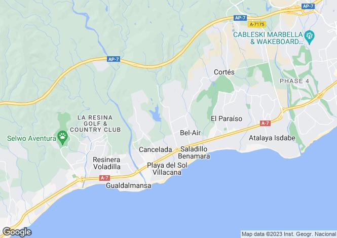 Map for Spain - Andalucia, Malaga, Los Flamingos