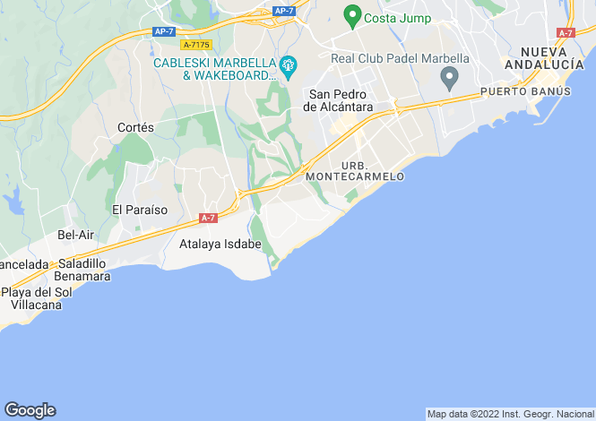 Map for Andalucia, Malaga, Guadalmina Baja