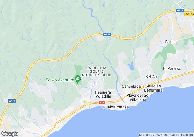 Map for La Resina Golf, New Golden Mile, Estepona