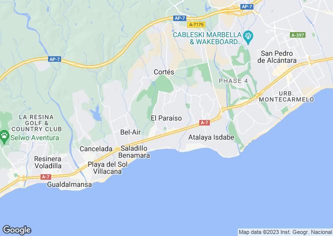 Map for El Paraiso, Málaga, Andalusia
