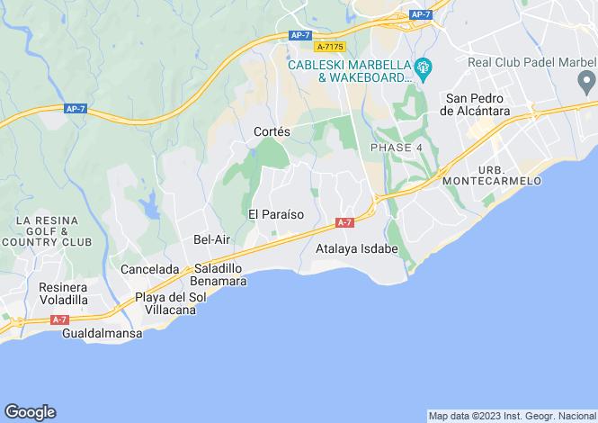 Map for El Paraiso, Estepona, Malaga, Spain