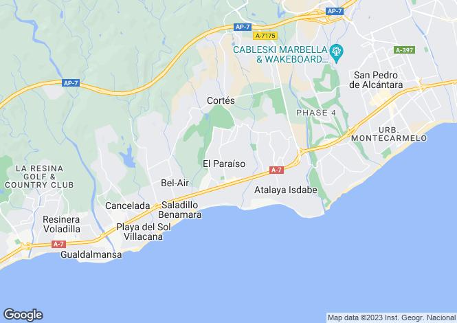 Map for New Golden Mile, Estepona, Malaga
