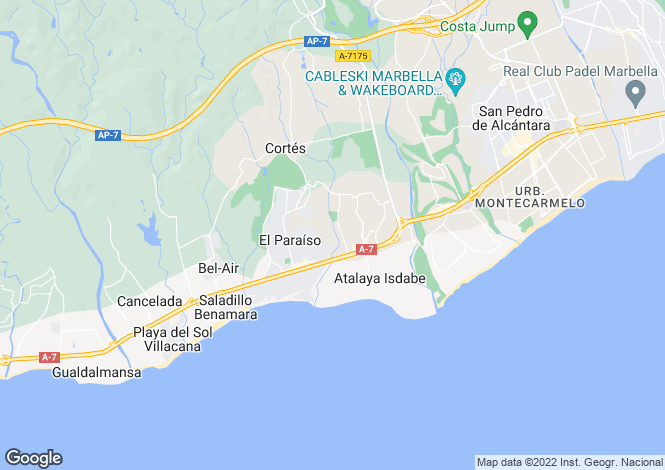 Map for Modern Apartments, New Golden Mile, Estepona