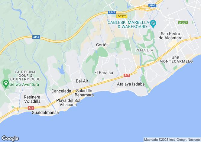 Map for Andalucia, Malaga, El Paraiso