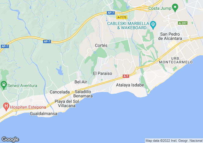 Map for Stylish Contemporary Villas, New Golden Mile, Estepona