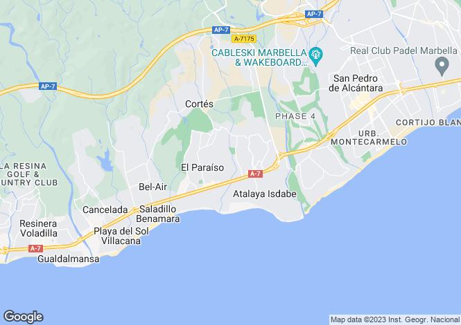 Map for Spain - Andalucia, Malaga, Estepona