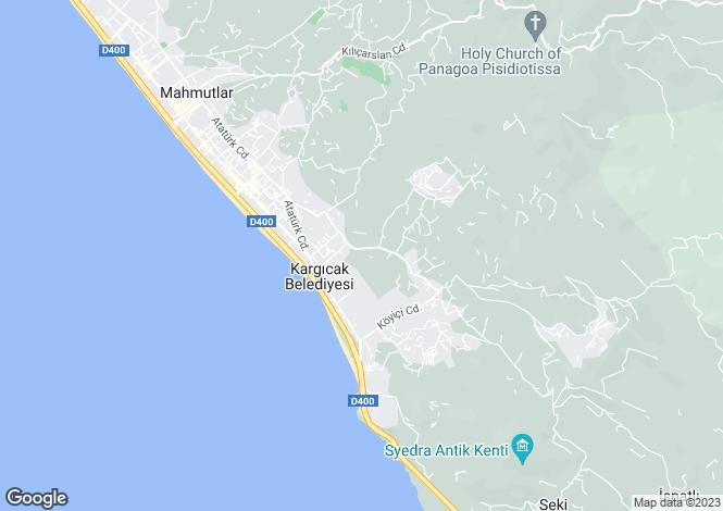 Map for Alanya, Antalya,  Turkey