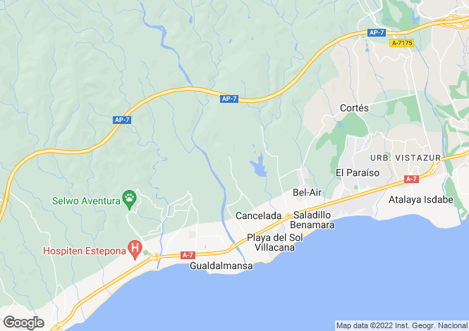Map for Cancelada, Malaga, Spain