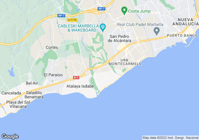 Map for Andalusia, Malaga, Guadalmina